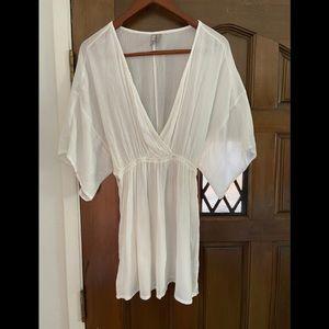 ASOS white viscose short dress